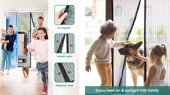 This magnetic screen door works well in high traffic zones.