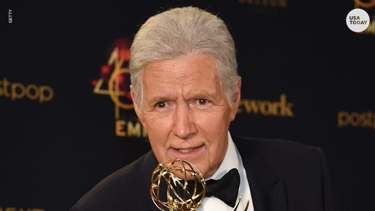 "Alex Trebek launched the new season of ""Jeopardy!"" on Monday, telling fans, ""I'm happy to report I'm still here."""
