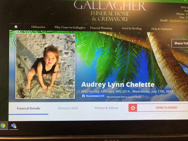 The mother of a 5-year-old girl, Audrey Lynn Chelette, brought to an Alexandria hospital said the girl's neck was injuredin an auto accident, but police now have arrested the mom on a second-degree murder charge.