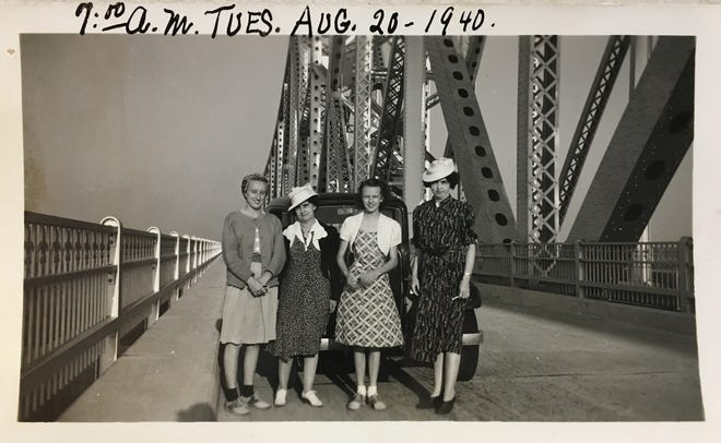 "Camille Lacy of Alexandria said she ""was going through old photographs"" and came across this photo of four women from Alexandria who had their photo taken on the Huey P. Long Bridge in Baton Rouge a few days after it opened in August of 1940. Lacy thought it was interesting and decided to share it with The Town Talk."