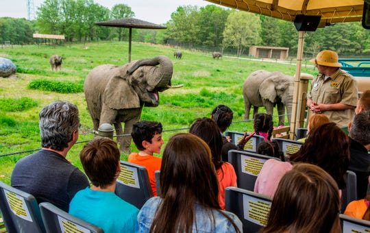 Guides narrate the Safari Off Road Adventure ride at Six Flags Great Adventure.