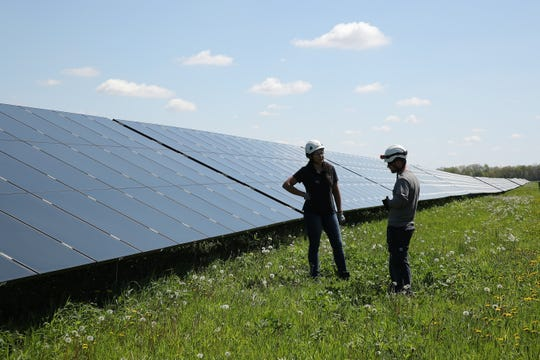 The Convis Township Planning Commission recommended approval of a 1,200-acre solar energy center. Invenergy LLC has constructed many solar energy farms across the world including this one in Streator, Illinois.