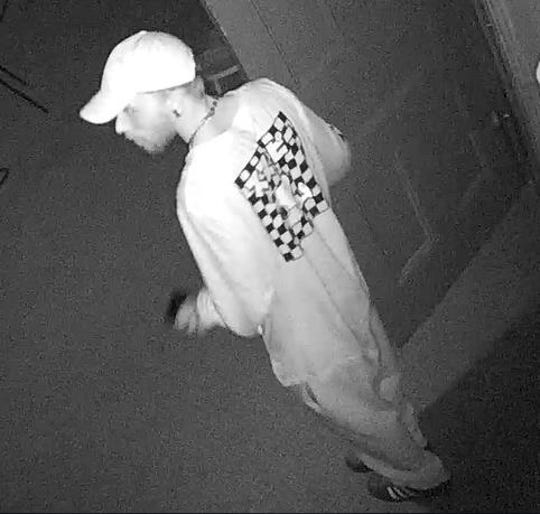 The suspect of a burglary at First Presbyterian Church of Johnson City was captured on security camera footage.