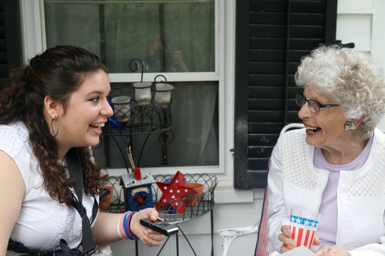 Press & Sun Bulletin reporter Maggie Gilroy interviews 91-year-old Patricia Grant at her Owego home on July 14, 2017.