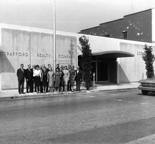 Trafford Realty Co.'s office on Brevard Avenue in Cocoa Village 1964