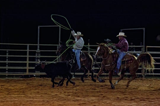 Every Saturday night, spectators from all over pack the 1,200-seat rodeo arena.