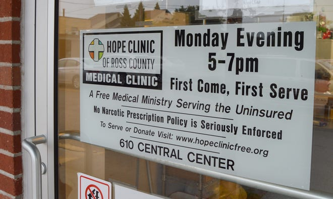 The Hope Clinic of Ross County provides free medical services to people in the community who are uninsured. They are a faith-based, volunteer run practice that runs every Monday evening from 5 p.m. to 7 p.m.