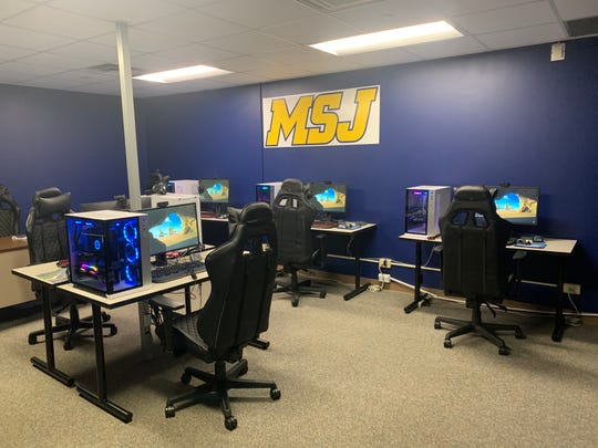 Mount St. Joseph's esports arena on campus has some of the latest gaming equipment and is stocked with PCs for competitive gaming.