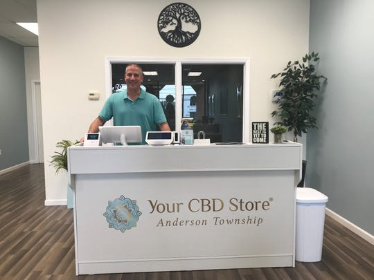 Dave Arend, owner of Your CBD Store in  Anderson Township, has been selling CBD products there since July 1.