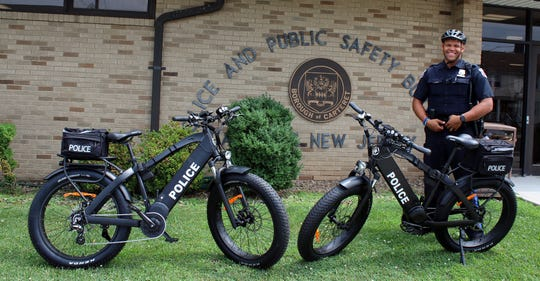 The new electric police bicycles being used by the Carteret Police Department