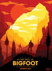 """""""On the Trail of...Bigfoot"""" documentary series poster"""