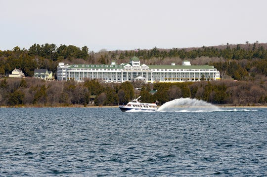The Star Line ferry zooms past the Grand Hotel on May 3, 2016.