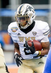 Western Michigan running back LeVante Bellamy rushed for 1,228 yards and scored seven total touchdowns last season.