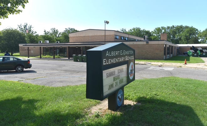 This is Albert E. Einstein Elementary School, which is part of the Oak Park School District.