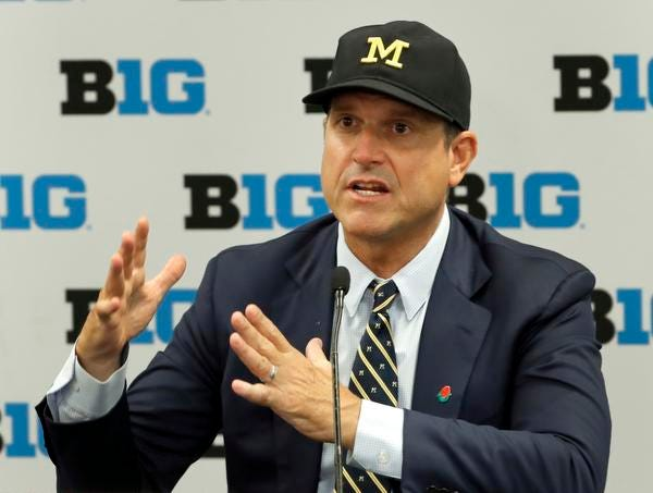 """""""Student-athletes and their families, that's why this proposal was written, to give them a voice at the table,"""" said Jim Harbaugh on Jon Jansen's """"Michigan Football: Inside the Trenches"""" podcast."""