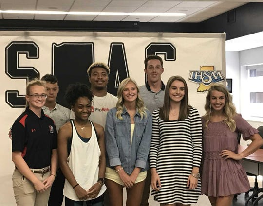 Eight of the athletes who were nominated for the SIAC Athlete of the Year award. The winner will be chosen on Sunday at the SIAC Celebration of Champions.