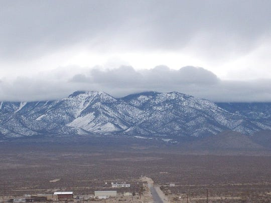 A view of the mountains in Nevada.