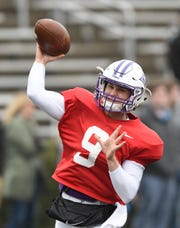Hamp Sisson (9) is competing to start at quarterback for Furman this season