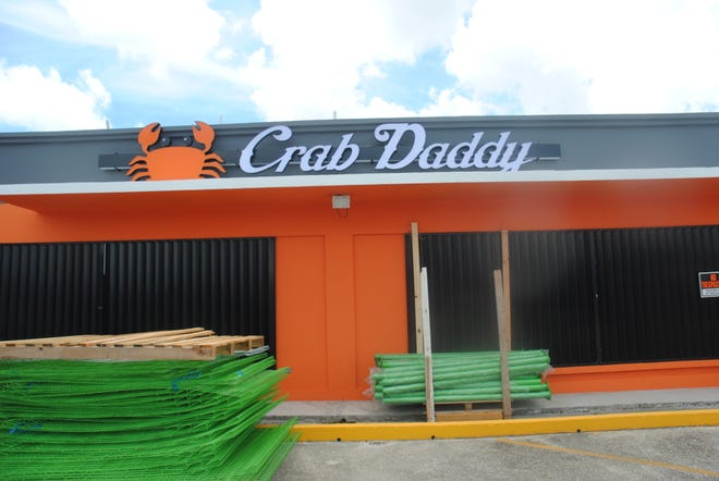 Work in progress: Crab Daddy in Hagatna is scheduled for a grand opening in October.