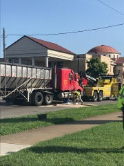 A semi and passenger car crashed at Second and Green streets Tuesday morning. (July 23, 2019)