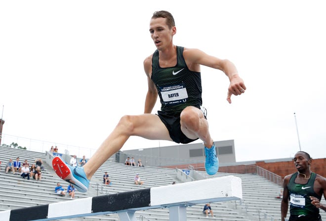 DES MOINES, IA - JUNE 22:  Andy Bayer competes in the Mens 3,000 Meter Steeplechase during day 2 of the 2018 USATF Outdoor Championships at Drake Stadium on June 22, 2018 in Des Moines, Iowa.