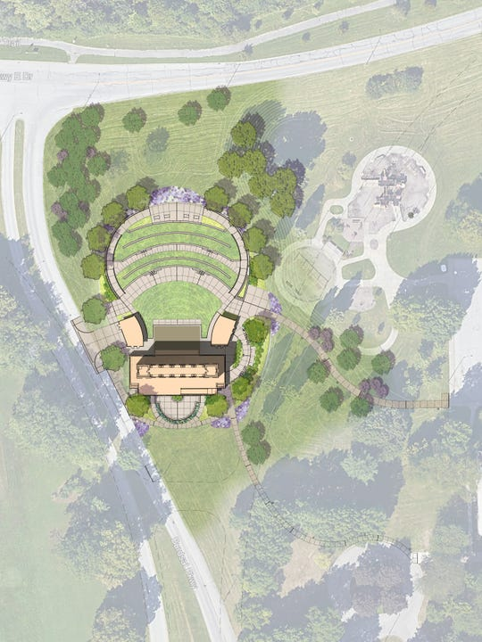 Artists rendering of the proposed Taggart Performance Venue at Riverside Park.