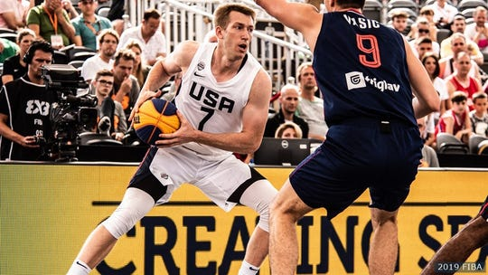 Robbie Hummel was named MVP of the FIBA 3x3 World Cup after leading USA to their first-ever world title in 3x3 on June 23, 2019 in Amsterdam.
