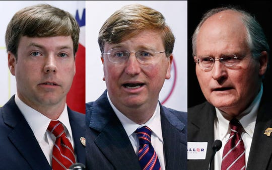 From left: Robert Foster, Tate Reeves and Bill Waller.