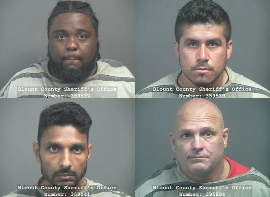 From top left to bottom right: Aaron Fomby, Orlando Moreno-Martinez, Upen Patel and Donald Turner.