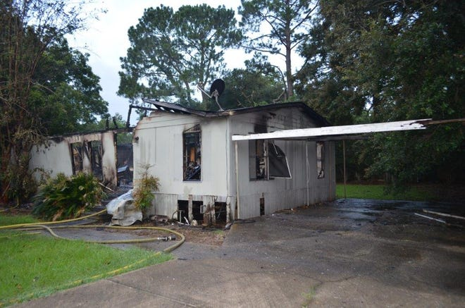 The Lafayette Fire Department suspects a home on Amite Drive was burned by arson on July 23, 2019.