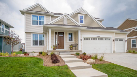 An example of one type of single-family home designed by Mayberry Homes shows what homes in a proposed housing and commercial development in Hartland Township could look like.