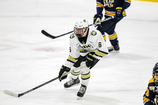 Colin Bilek of Brighton was the leading freshman scorer on Army's hockey team last season.