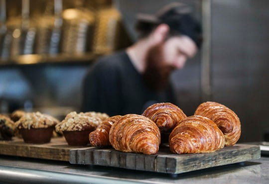 """The house-made butter croissants, scones and pastries from the Butchertown Grocery will be available at the soon to open Butchertown Grocery Bakery on Main Street in the fall. """"There's too much Panera bread out there,"""" said Chef Bobby Benjamin. """"There's real handcrafted bread being made here."""" The bakery will feature coffee and the made-from-scratch bread, pastries and desserts from pastry chef Barbara Turner, who will run the bakery for Benjamin."""