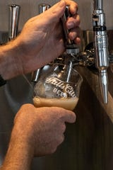 There's plenty of Falls City Beer on tap at the company's 901 East Liberty Street location. 7/19/19