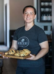 """Butchertown Grocery pastry chef Barbara Turner, holding a platter of scones, will be running the Butchertown Grocery Bakery when it opens in Fall 2019. Chef Bobby Benjamin, who runs and owns the Butchertown Grocery, loved she crafts the desserts and made-from-scratch bread and decided to open a stand-alone bakery just a few blocks away on Main Street. """"We're going to have the best of everything,"""" Benjamin said. """"(Turner) makes things that will bring you to tears it's so good."""""""