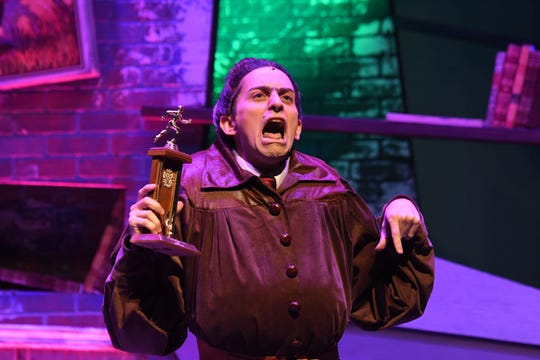 """Stephen Joshua Thompson plays Miss Trunchbull in """"Matilda the Musical"""" at the Renaissance Theatre."""