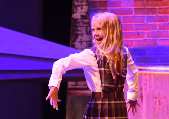 Corlyn Stauffer plays the title role of Matilda, a musical opening the Renaissance Theatre season.