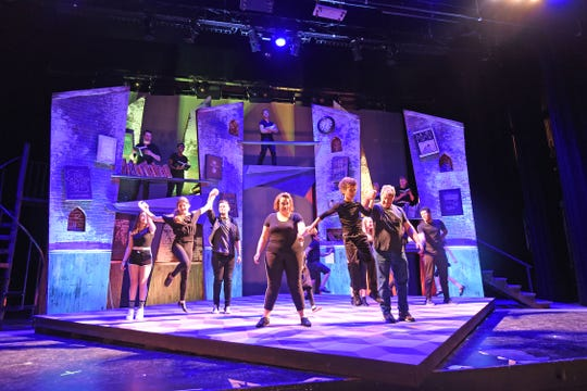 """The cast of """"Roald Dahl's Matilda the Musical"""" rehearses Monday night at the Renaissance Theatre."""