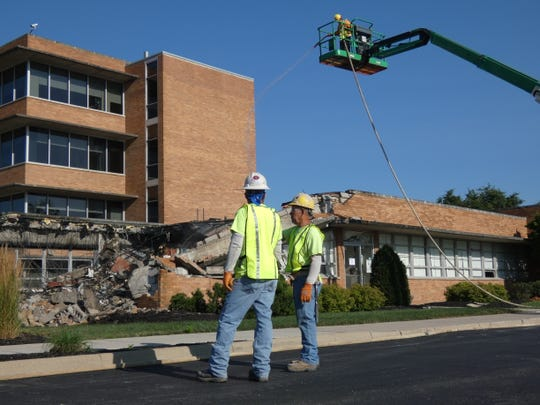Demolition begins Tuesday to make way for a three-story addition to OhioHealth Marion General Hospital.