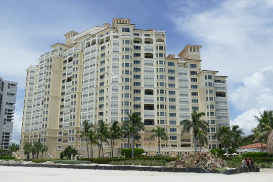 Seaward side of the Madeira on Marco Island condominium on July 22, 2019.