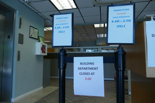 New signs posted in Marco Island City Hall say the Building Department will now be open to the public weekdays from 8 a.m. to 3 p.m.