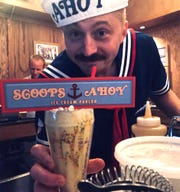 "A bartender at Don's Diner served a Stranger Things ""Scoops Ahoy"" themed drink. The bar will be doing a pop-up bar on July 25"