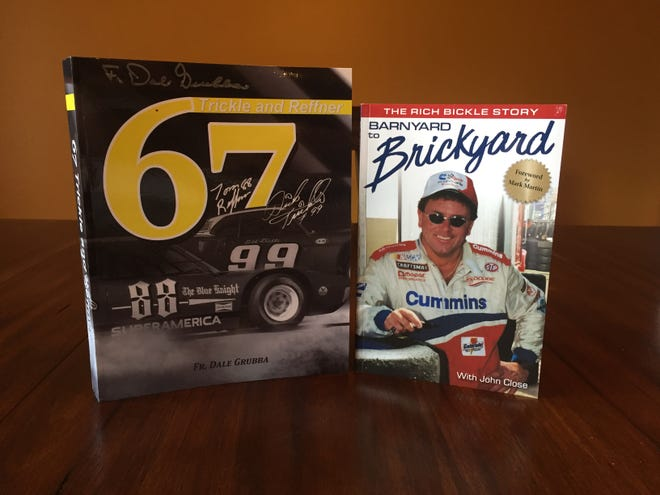 """Two Wisconsin racing books, """"67 Trickle and Reffner,"""" which covers the incredible 67-win seasons of Dick Trickle and Tom Reffner, and """"Barnyard to Brickyard: The Rich Bickle Story,"""" a biography, went on sale in July."""