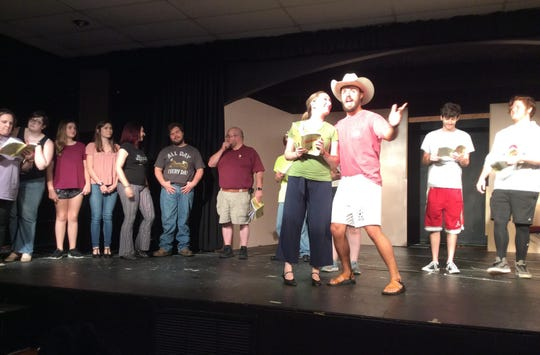 "Prattville's Way Off Broadway Theatre's cast rehearses for their new musical production of ""Oklahoma!"""