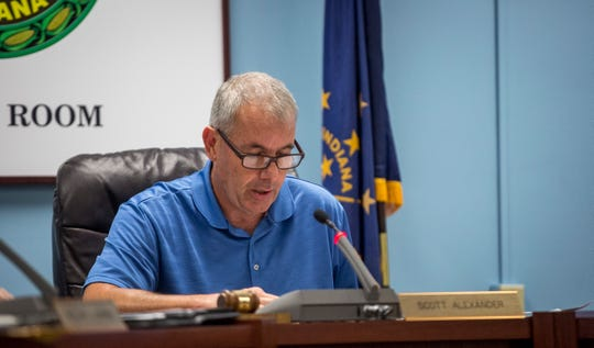 Delaware County council member Scott Alexander discusses a raise to the Delaware County paramedics Tuesday morning at the council's regular monthly meeting. DCEMS officials said that lower than average salary and high calls volumes were affecting employee retention with the department.