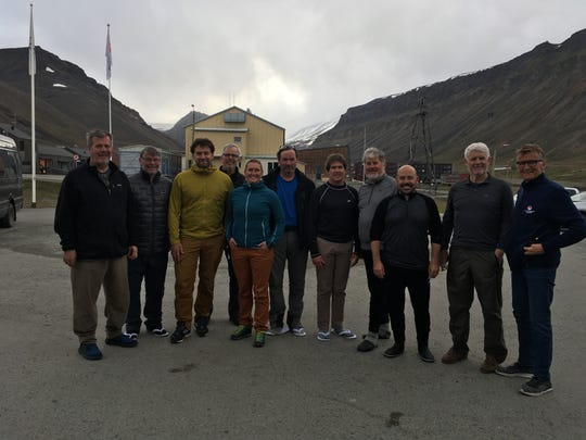 Former Nashville Mayor Karl Dean (far left) and friends pictured with Norwegian sailboat crew members following a dramatic sea rescue on July 21, 2019.