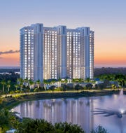 Tower 300 at Kalea Bay, with 120 luxury residences, offers panoramic views of the Gulf of Mexico.
