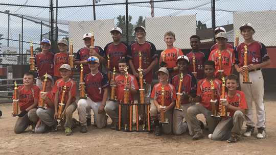The Heath Sertoma Youth Athletic Association 10U and 12U teams each won tournaments at Hoback Park this weekend.