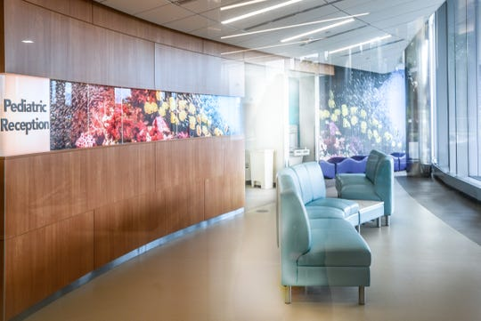 The newly renovated emergency room at Clara Maass Medical Center in Belleville on Tuesday July 23, 2019. The new emergency room has a separate waiting area for for children.