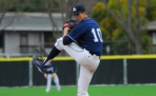 Chris Mazza played shortstop and closed while playing for the Menlo Oaks.